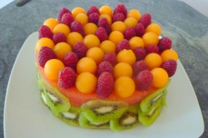 Gâteau fruits