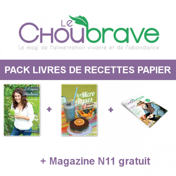 pack livres de recettes papier mag n11 en papier et gratuit le chou brave. Black Bedroom Furniture Sets. Home Design Ideas
